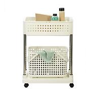 [Gia Dụng Nhật] Kệ Giặt Di Động Cao Cấp Nachi Nhật Bản 2 tầng gọn nhẹ (có bánh xe) - Hàng chính hãng