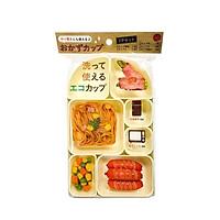Khay đựng cơm hộp 7 ngăn nhỏ gọn Nội địa Nhật Bản