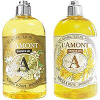 Combo Sữa Tắm L'amont En Provence Almond Shower Gel + Mimosa Shower Gel (Hương hoa Mimosa) 500ml/chai