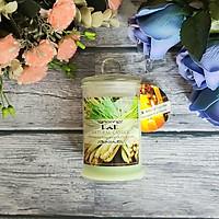 Nến thơm lọ thủy tinh sả chanh không khói Ecolife - Aroma Candles Lemongrass Jar
