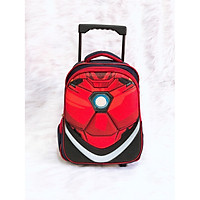 Balo kéo cho bé trai hình Iron Man size lớp 1 đến lớp 3