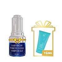 Saffron Whitening Ampoule (Tinh Chất Làm Trắng Chiết Xuất Từ Nhụy Hoa Nghệ Tây) 20ml + Rice Body Makeup Mini 30ml - T.H.Y