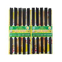Bộ 10 đôi đũa đen Văn Minh bằng gỗ tự nhiên an toàn cho sức khỏe GS00046