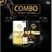 Combo Serum Làm Giảm Và Ngăn Ngừa mụn, thâm Zenpali 10ml giúp ngừa mụn thâm dưỡng ẩm trắng da