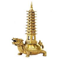 Tượng Long Quy rùa đầu rồng cõng tháp Văn Xương Hồng Thắng cỡ nhỏ