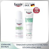Tinh chất giúp giảm mụn và thu nhỏ lỗ chân lông Cho da mụn Eucerin Pro Acne Poreless Solution 30ml [ Tặng Sữa rửa mặt Eucerin Pro Acne Cleansing Foam 150gr]