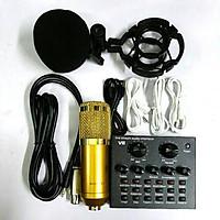 bộ livestream THU ÂM SOUND CARD V8 mic BM900 bluetooth có AUTOTUNE