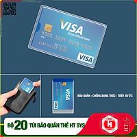 Combo 20 Túi ví  bảo quản HT SYS - Chống bong tróc - Chống trầy xước Thẻ ATM, CCCD , Card Visit, Driver License Bằng Lái Xe - Dạng PET - Hàng Chính Hãng