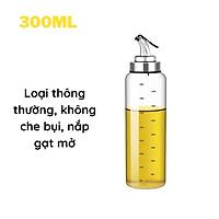 Chai Lọ Bình thủy tinh đựng dầu ăn nước mắm tự mở nắp khi rót 550ml