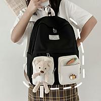 Balo xinh  xắn  dành cho tiểu học cấp 1, cấp 2, cấp 3  đi học ,đi chơi ticke Gấu Kute  dễ thương
