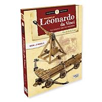 Bộ DIY mô hình phát minh Máy Bắn đá và Nỏ bắn của hãng SASSI PUZZLE LEONARDO DA VINCI'S MACHINES THE CATAPULT AND THE CROSSBOW