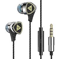Tai nghe QKZ SK1 vỏ kim loại cao cấp, âm thanh cực tốt trong tầm giá, có micro - Hàng chính hãng