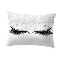 Eyelash Printed Throw Pillow Cover Square Cushion Covers Sofa Pillow Case 1