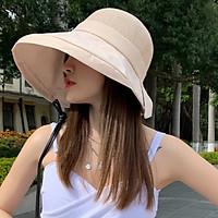 Mũ rộng vành chống nắng thắt nơ phong cách Hàn mới, nón chống nắng chống uv cao cấp