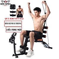 Máy Tập Cơ Bụng Đa Năng 6 Chức Năng Six Pack Care Đạp Xe Tập Giảm Mỡ Bụng Tại Nhà Đại Nam Sport + Kèm Máy Massage Chạy Pin