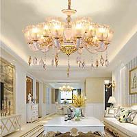 Đèn chùm HINN tân cổ điển trang trí nội thất sang trọng - kèm bóng Led chuyên dụng