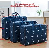 Bộ 3 túi đựng chăn màn quần áo bằng vải Polieste chống thấm cực tốt miDoctor – Giao ngẫu nhiên