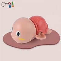 Rùa Bơi đồ chơi vặn cót biết bơi trong nước siêu dễ thương, dùng cho bé chơi trong nhà tắm, bể bơi mini kích thích bé cưng đi tắm an toàn cho trẻ em + Tặng Kèm Móc Khóa 4Tech