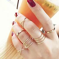 Bộ 6 chiếc nhẫn lò so dành cho nữ