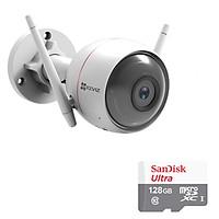 Camera Wifi Ngoài Trời  EZVIZ Husky Air CS-CV310 1080p 2.0MP Và Thẻ Nhớ 128GB - Tặng Kèm Tai Nghe Bluetooth - Hàng chính hãng