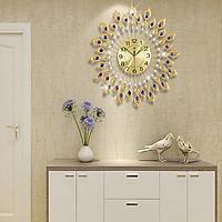 Đồng hồ trang trí nghệ thuật lông vũ treo tường - DHNTLV01