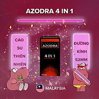 [Hộp 12 cái] Bao cao su Azodra 4 in 1 - Kéo dài thời gian