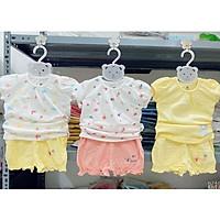 Bộ cộc tay cotton Lullaby NH627P, bộ quần áo cánh tiên mềm mịn cao cấp
