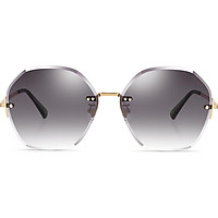 PARZIN 2019 new fashion nylon sunglasses female frameless translucent driving tide sunglasses female 8224 red tea color film