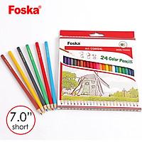 Hộp tròn bút chì 24 màu Foska PTR1024L