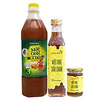 Combo Thực Phẩm Chức Năng Mật Ong Thô Honeyboy (1L) Và Mật Ong Sữa Chúa Honeyboy (250ml) - Tặng Mật Ong Sữa Chúa Honeyboy (100ml)