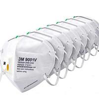 (Nhiều lựa chọn) Khẩu trang 3M 9001V cao cấp , chính hãng , có van thở , kháng khuẩn , chống bụi siêu mịn PM2.5 , màu trắng , theo tiêu chuẩn : AS/NZS P2, EN 143:2000