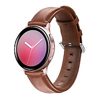 Dây Da Genuine Leather Dành Cho Galaxy Watch Active 2, Galaxy Watch Active 1, Galaxy Watch 42 (Size 20mm)