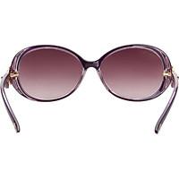 Love (LianSan) Polarized Sunglasses Women's Large Frame Fashion Facial Color Rhinestone Korean Driving Mirror sunglasses GD103 Purple Polarized