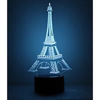 Đèn ngủ 3D - Tháp Eiffel công tắc cảm ứng