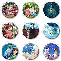 Huy hiệu in hình anime Spirited Away Vùng Đất Linh Hồn anime chibi dễ thương huy hiệu cài áo (MẪU GIAO NGẪU NHIÊN)