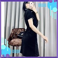 Đầm nữ cổ bẻ Váy polo dáng suông chất thun cotton 100% hàng cao cấp