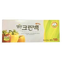 Túi Đựng Thực Phẩm Hàn Quốc Size M Hộp 100 Cái (25x35cm)