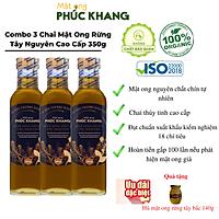 3 Chai Mật ong nguyên chất hoa rừng tây bắc Phúc Khang (720g)  - Hàng Chính Hãng - Mật ong sạch đạt chuẩn xuất khẩu