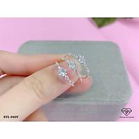 Nhẫn nữ mảnh đính đá nhỏ xinh chất liệu bạc ta