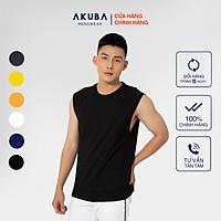Áo thun 3 lỗ nam AKUBA Chất liệu Cotton Single cao cấp 01J660