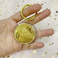 Móc khóa Đồng Xu hình tượng Phật Như Lai cầu may mắn bình an - The Merrick Mint