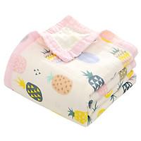 Chăn cho bé và trẻ nhỏ 6 lớp, mềm mại, cotton 100% siêu thấm nước. Khăn tắm cho bé. Có bo viền. Kích thước 110x110cm -  BABYUP