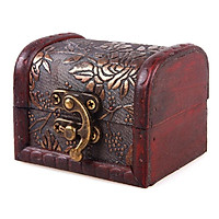 Siaonvr Vintage European jewelry box wooden box Antique old wooden box