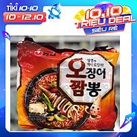 Bịch 5 Gói Mì Mực Hải Sản Champong Nongshim Hàn Quốc (124 gam / gói)