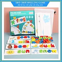 Bộ thẻ học ghép chữ cái tiếng Anh bằng gỗ - Spelling game