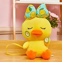 Vịt Vàng Đeo Nơ Nhồi Bông - Siêu Mềm Siêu Cute