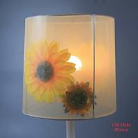 Đèn bàn gỗ hoa mặt trời vải xoan xốp 2 lớp, đèn trang trí nội thất, đèn để bàn phòng ngủ hàng chính hãng.