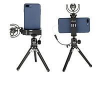Giá kẹp điện thoại xoay 2 chiều gắn mic ST-02S ULANZI