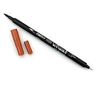 Bút lông hai đầu màu nước Marvy LePlume II 1122 - Brush/ Extra fine tip - Suede (90)