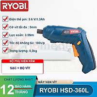 Máy vặn vít dùng pin Ryobi Kyocera HSD-360L 3.6V